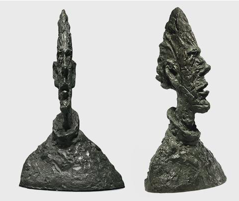Large Thin Head och Grande tête mince (Large head of Diego), Alberto Giacometti. Foto: Christie's.