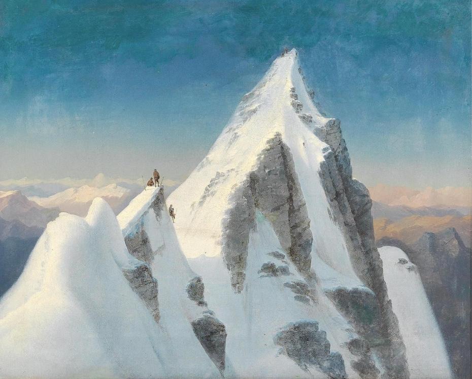 MARCUS PERNHART (Untermieger 1824–1871 St. Ruprecht bei Klagenfurt) - Der Großglockner, Öl/Lwd., gerahmt
