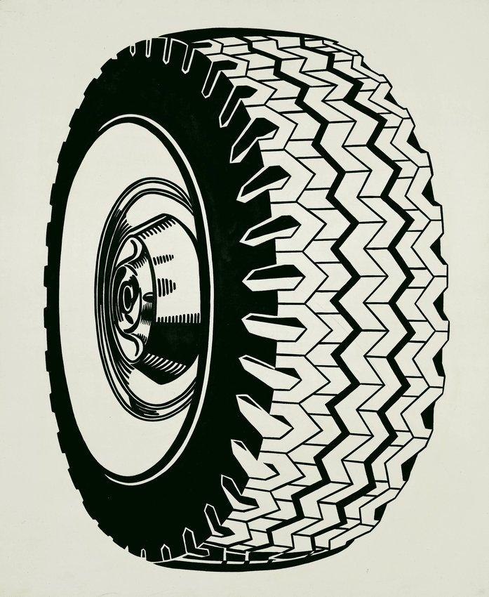 Roy Lichtenstein, 'Tire', 1962, parte della collezione del San Francisco Museum of Modern Art (SFMoMA)