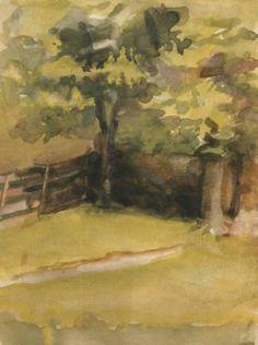 Georgia O'Keeffe, « Untitled (Landscape) », 1905 : 1906, image via Pinterest