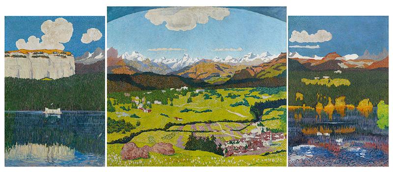 """Giovanni Giacometti, """"Panorama di Flims"""", 1904. Venduto nel 2016 per la cifra record mondiale di 4 milioni di franchi svizzeri, immagine © Koller"""