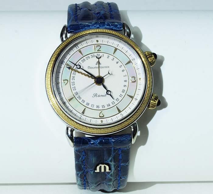 MAURICE LACROIX - Armbanduhr aus Edelstahl und Gelbgold mit Perlmutteinlage im Zifferblatt Mindestpreis: 1.200 EUR
