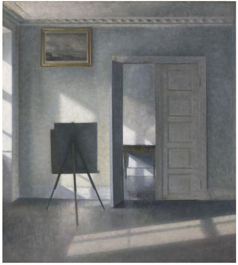 Vilhelm Hammershøis Interieur med staffeli, Bredgade 25. Foto: The J. Paul Getty Museum.