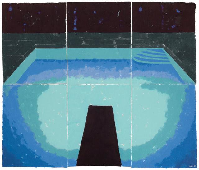 David Hockney, Piscine de Medianoche (Paper Pool 30), 1978 | Abb.: ©Sotheby's
