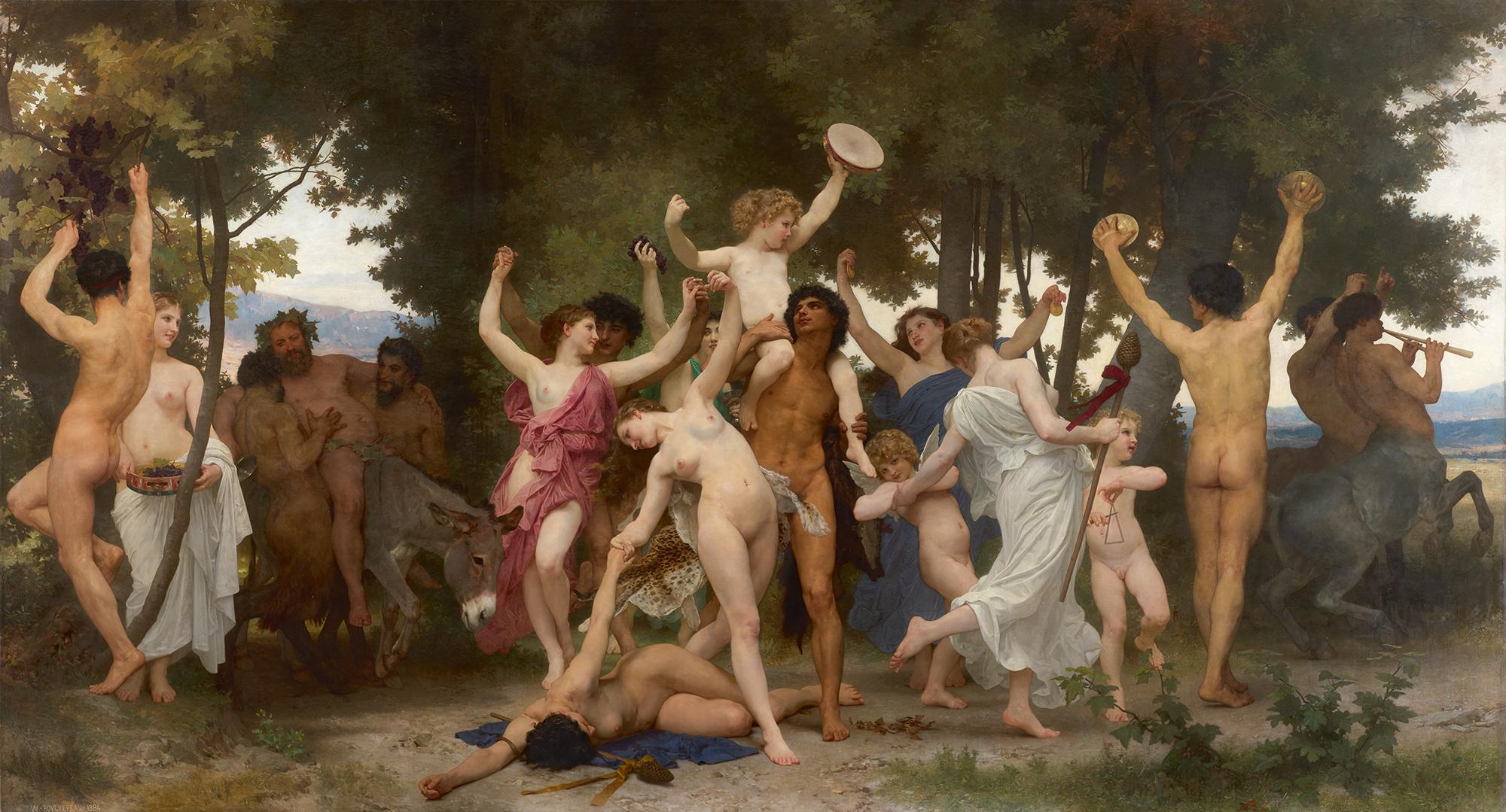 William Bouguereau , La jeunesse de Bacchus, huile sur toile, 1884, image ©Sotheby's