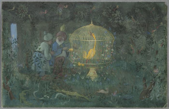 Ivar Arosenius, Kalifens guldfågel, 1908. Foto: Cecilia Heisser/Nationalmuseum.