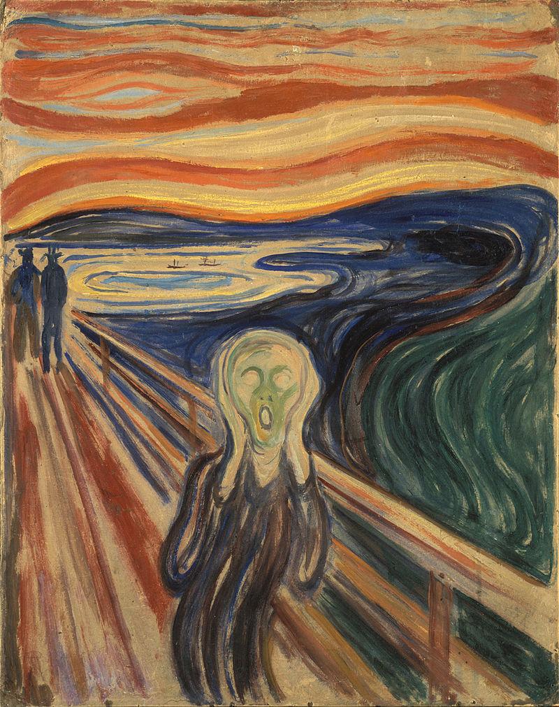 Edvard Munch - Der Schrei, Tempera-Version von 1910