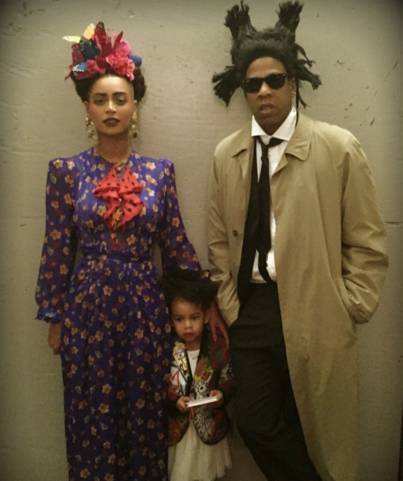 The couple dressed as Frida Kahlo and Jean-Michel Basquiat for Halloween 2014. Photo: Beyonce/Tumblr.