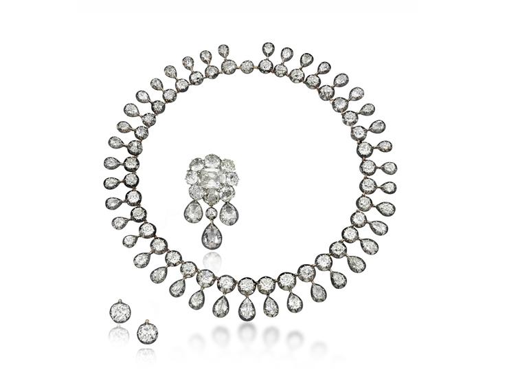 Parure de diamants, estimation 300 000 - 500 000 dollars, image ©Sotheby's