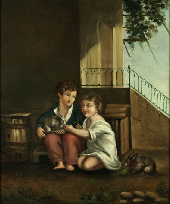 PAUL CÉZANNE (1839 Aix-en-Provence – 1906 ebenda) - Les deux enfants, d'après Prud'hon, Öl/Lwd., 55 x 45 cm, 1858-60 Schätzpreis: 450.000-550.000 EUR