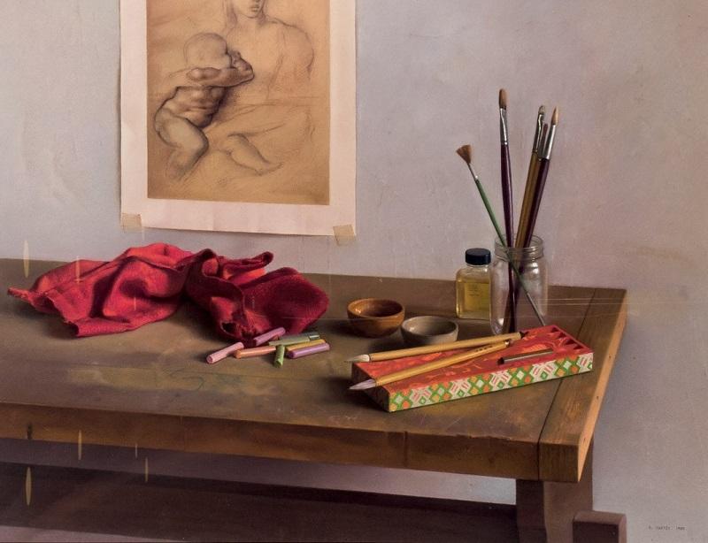 Lote 191: RICARDO MAFFEI. La mesa del pintor (1985). Precio de salida: 4.000 €