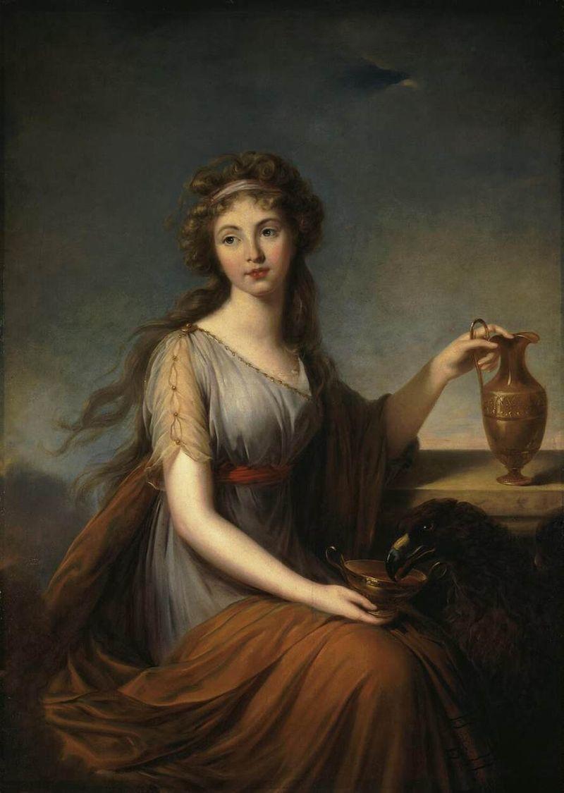 """Élisabeth Vigée Le Brun, """"Baroness Anna Pitt as Hebe"""", 1792"""