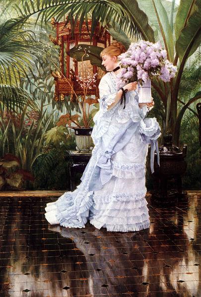 James Tissot, The Bunch of Lilacs, circa 1875 Image via artrenewal.org