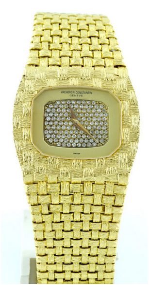 Vacheron Constantin- gyllene armbandsur med 150 diamanter, Geneva runt 1990. Utrop: Hos Catawiki