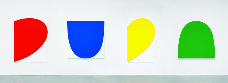 Ellsworth Kelly, Curves on White (Four Panels), 2012 Courtesy: Galerie Marian Goodman, Paris.