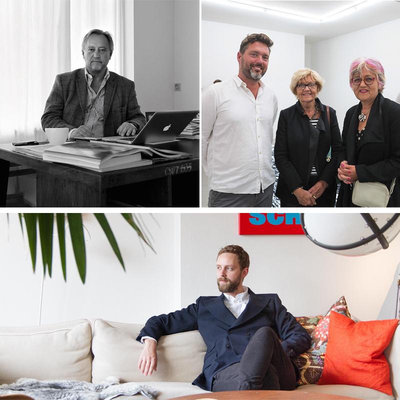 Cleas Nordenhake (vid skrivbord), Ben Loveless och Erik Nordenhake. Bilder Barnebys och Collectors Agenda