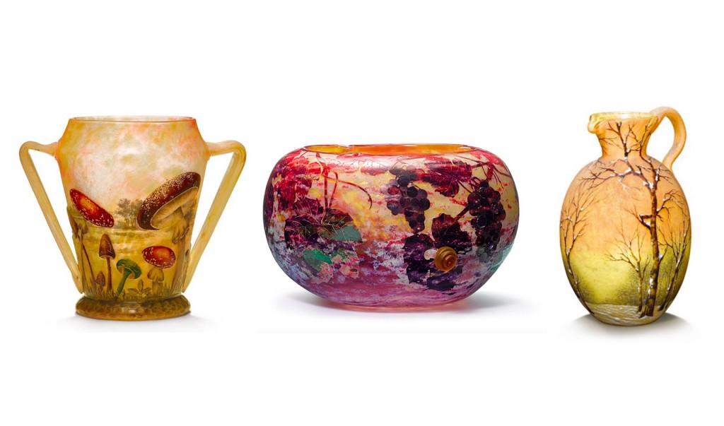 Créations de la cristallerie de Daum, Nancy, images ©Koller