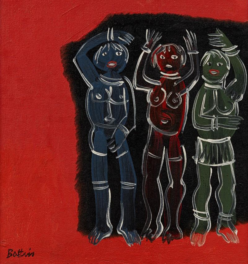 "Walter Battiss, ""Three Figures""."
