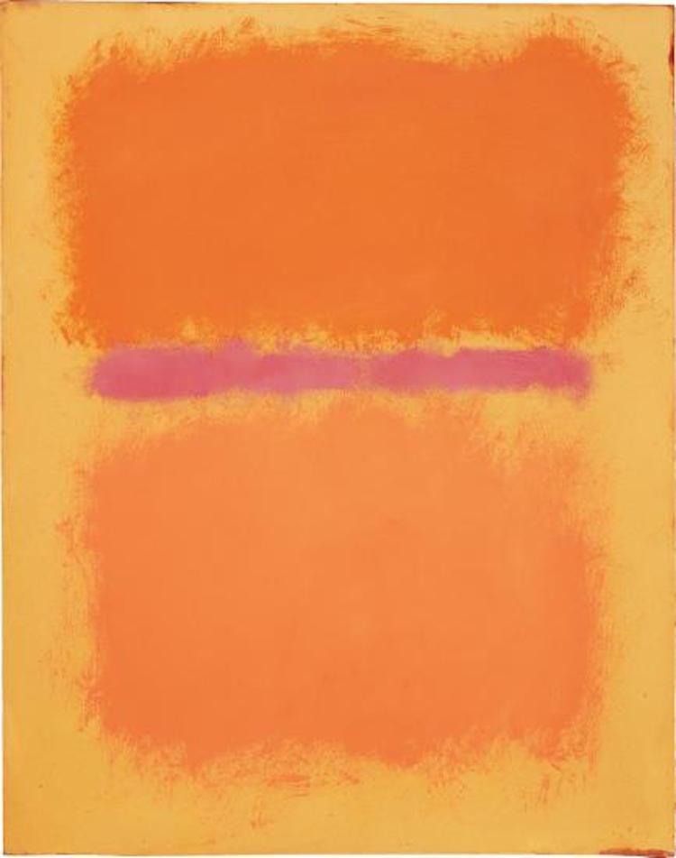 MARK ROTHKO. Untitled, 1959. Estimate $3,000,000 - 5,000,000. Photo via Phillips