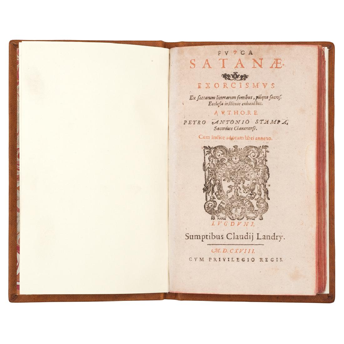 PEDRO ANTONIO STAMPA - Fuga Satanae Exorcismus: ex sacrarum litterarum fontibus... Lvgdvni: Sumptibus Claudii Landry, 1618