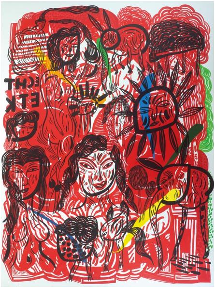 MARIO DALPRA (1960 Feldkirch) - Ohne Titel, Acryl/Lwd., 200 x 150 cm, signiert und datiert, 2007 Schätzpreis: 8.000-12.000 EUR Rufpreis: 5.000 EUR