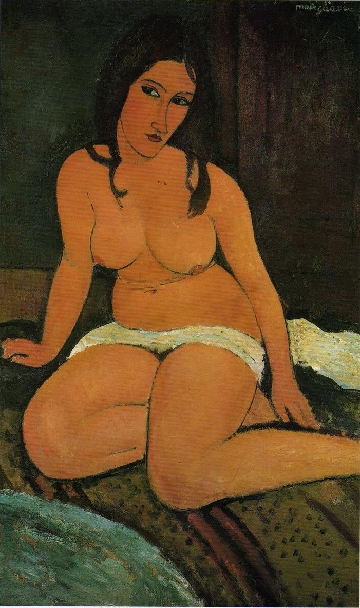 Amadeo Modigliani, 'Nu Assis', 1917. Bild: Royal Museum of Fine Arts Antwerpen