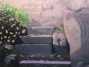 Daniel Heidkamp, Gigantic Steps, 2016, Oil on linen, 84 x 60 in