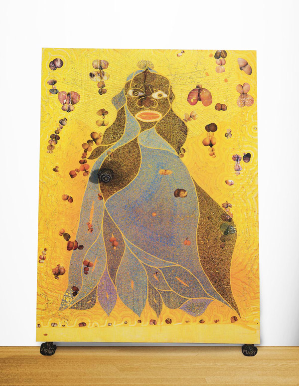 Chris Ofili, The Holy Virgin Mary, 1996 Image via Saatchi Gallery
