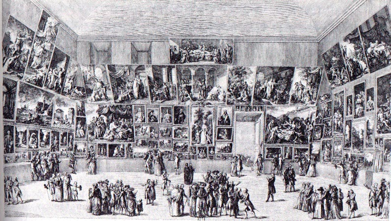 Parissalongen porträtterad av Pietro Antonio Martini. Foto via suny.oneonta.edu.