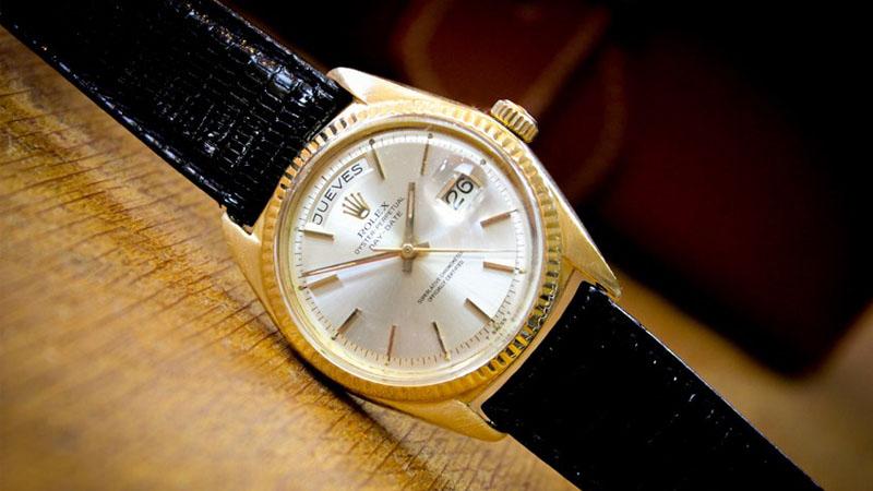 1966 Rolex Day-Date Presidential 18k Yellow Gold Sunburst Spanish Dial
