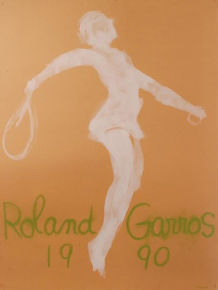Affiche Roland Garros 1990 Antikbar