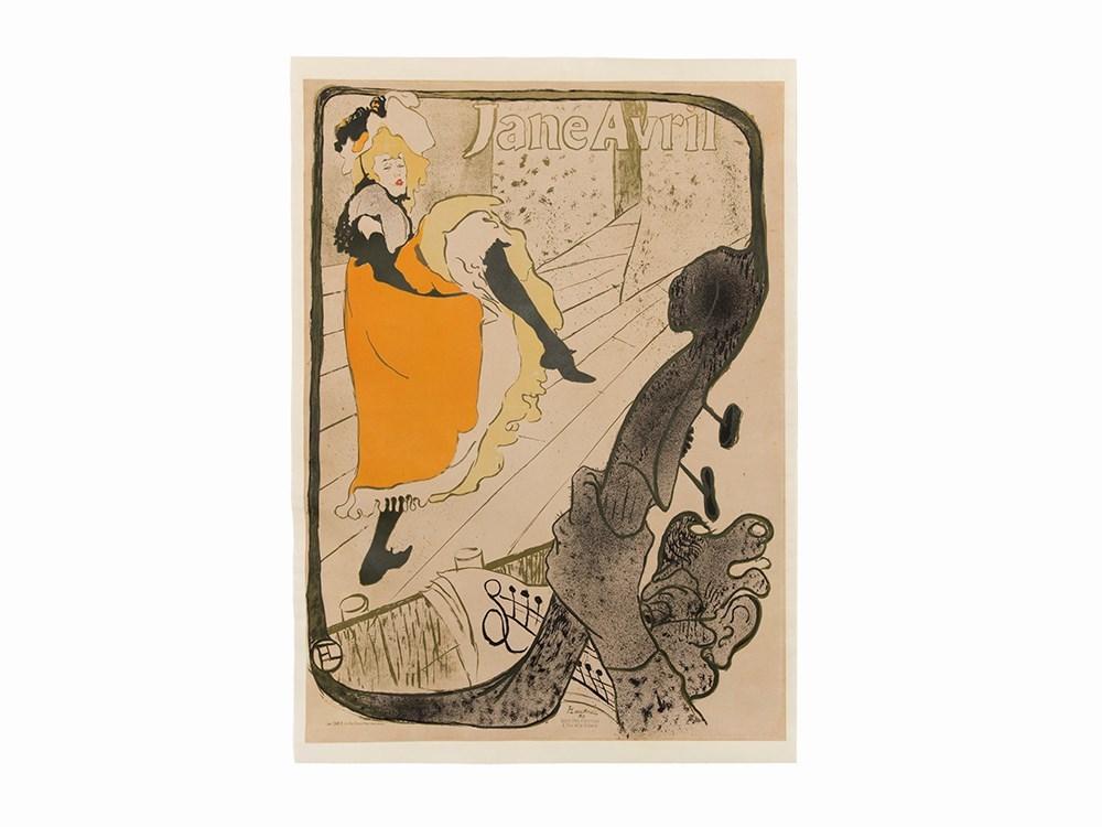 Henri de Toulouse-Lautrec, Lithograph, 'Jane Avril', 1893. Schätzpreis: 80 000 EUR. Auctionata