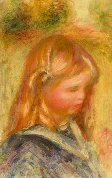 Pierre-Auguste Renoir Enfant à la marinière Huile sur toile, Signée en haut à gauche Estimation: 60 000 - 80 000 euros