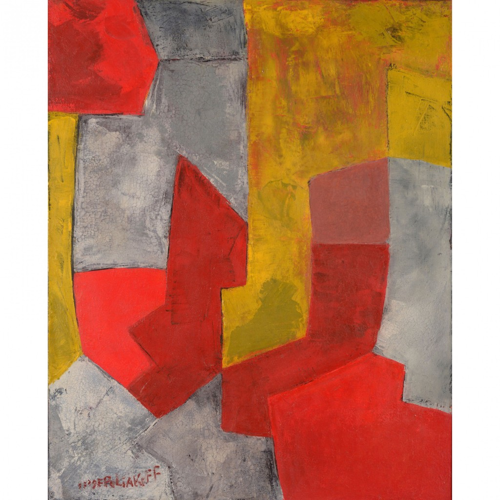 Serge Poliakoff, Composition, 1959, Huile sur toile, Signée en bas à gauche