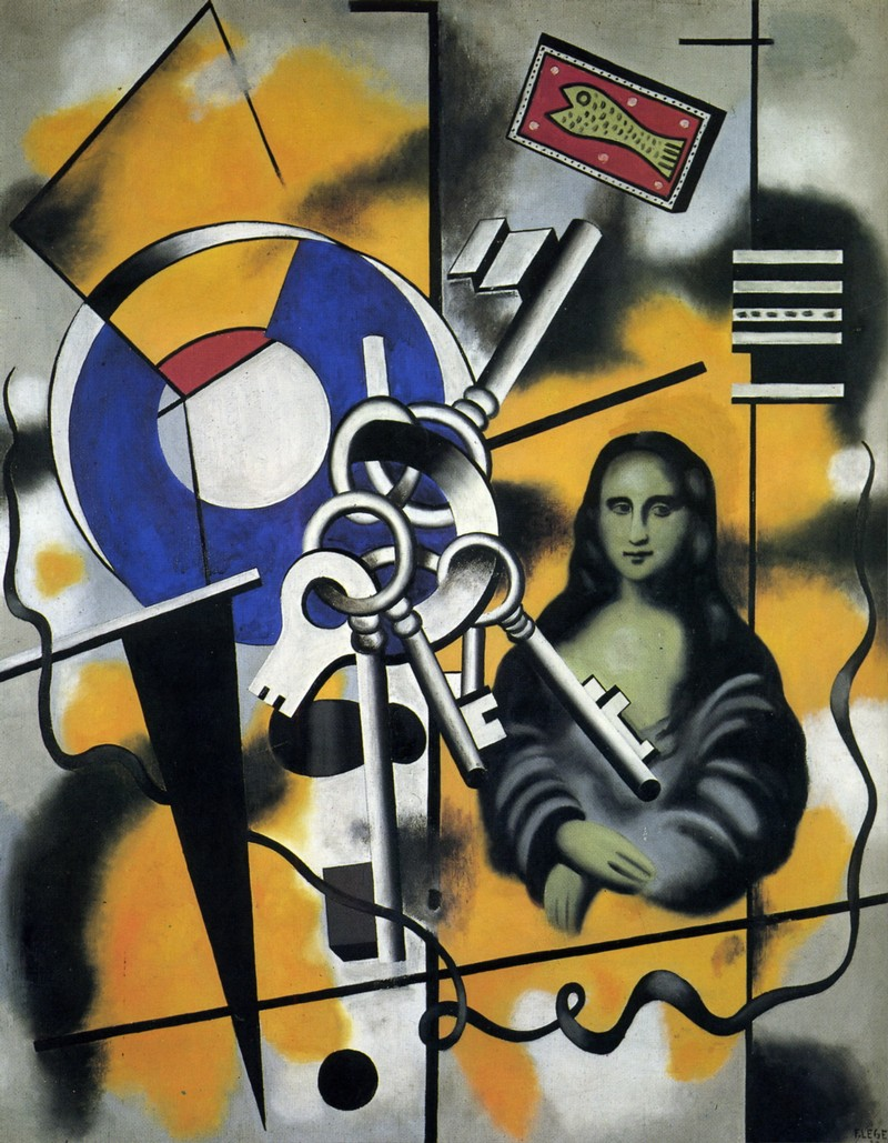 Mona Lisa with the Keys, Fernand Léger (1930) Foto: Allpainters