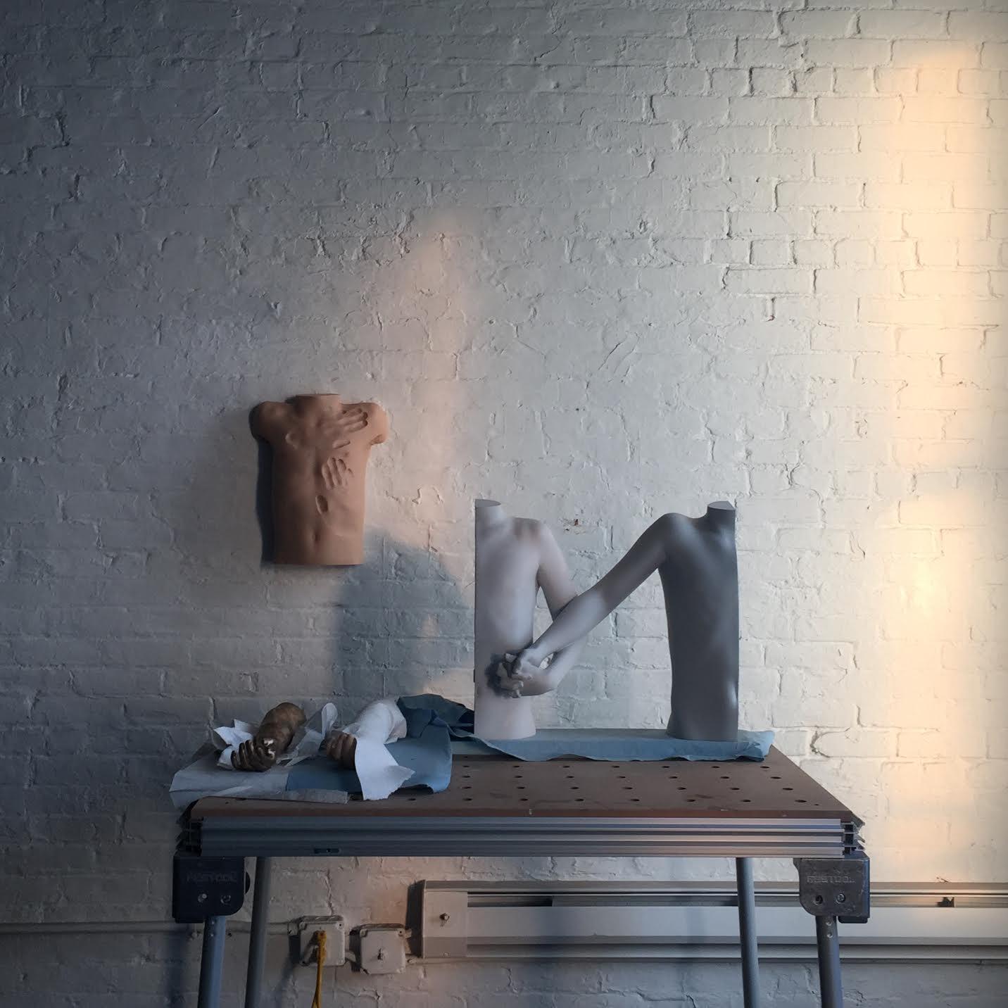 Fotografi av Stefan Sndersson från ateljén i New York.