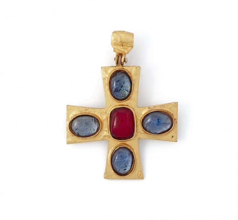 "Robert Goossens, ""Ciondolo a croce bizantina"", anni '60, immagine © Lempertz, Colonia"