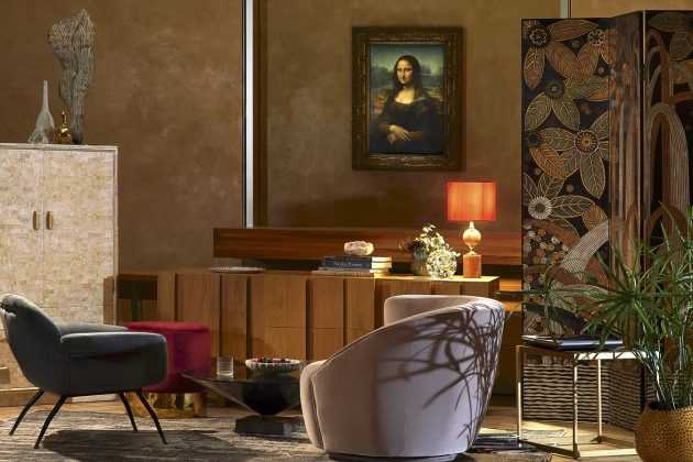 Un apéritif avec la Joconde, image © Julian Abrams via Airbnb
