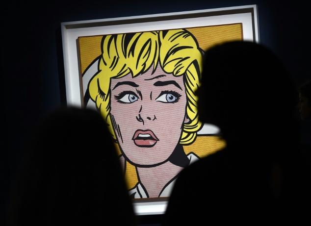 """Roy Lichtenstein  """"Nurse""""(1960s)  ©Timothy A. Clary (AFP/File)"""