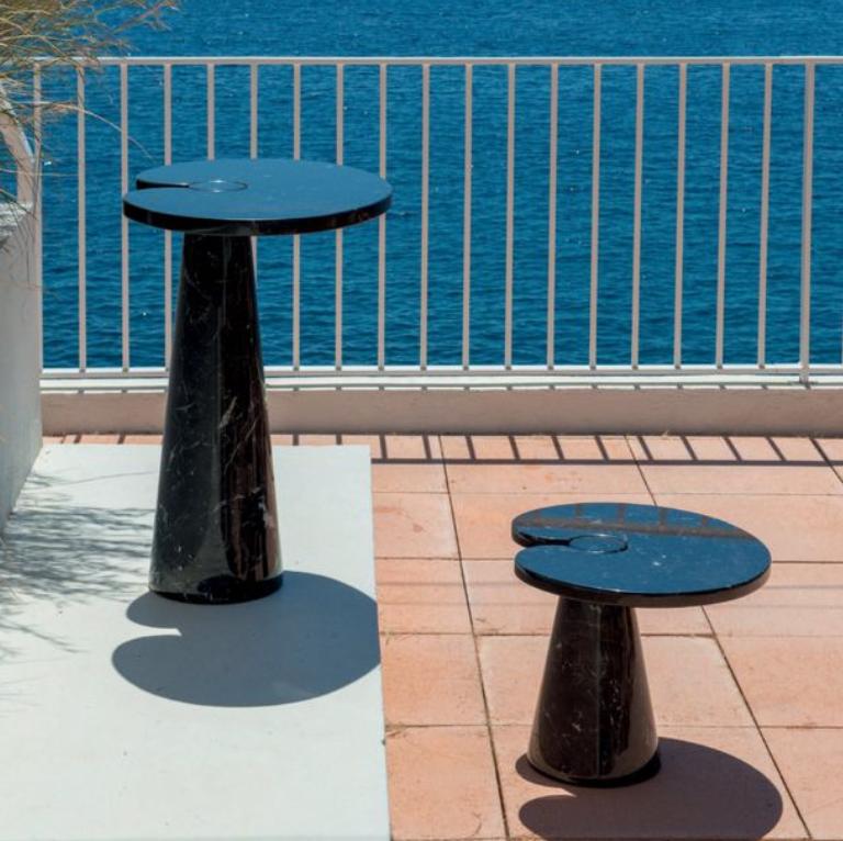 Angelo Mangiarotti, tavolini Eros, Skipper, 1971.