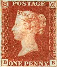 Die Penny Red wurde zwischen 1841 und 1879 ausgegeben. Die Exemplare der Platte 77 von 1863 kamen nie in den Verkauf.
