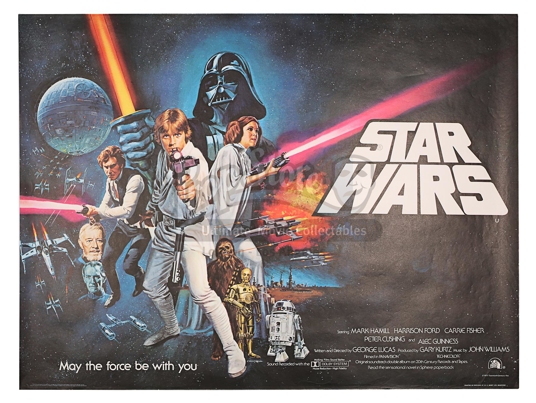 Star Wars: A New Hope (1977) 'Non-Oscar' UK Poster. Image: Prop Store