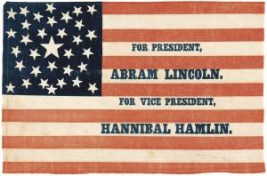 1860 Lincoln parade flag