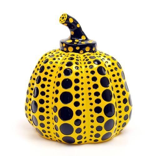 Yayoi Kusama, resin pumpkin in yellow and black, 2004. Photo: Alyes Auctions.