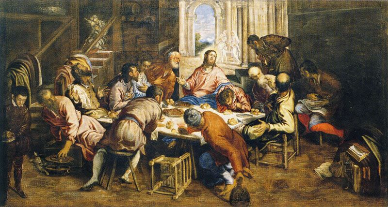 The Last Supper, Tintoretto. 1592-4, oil on canvas. Image: Web Gallery of Art
