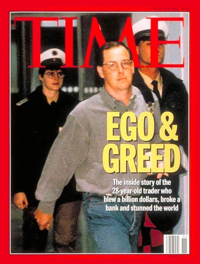 Nick Leeson on the cover of TIME Magazine, 13th March, 1995