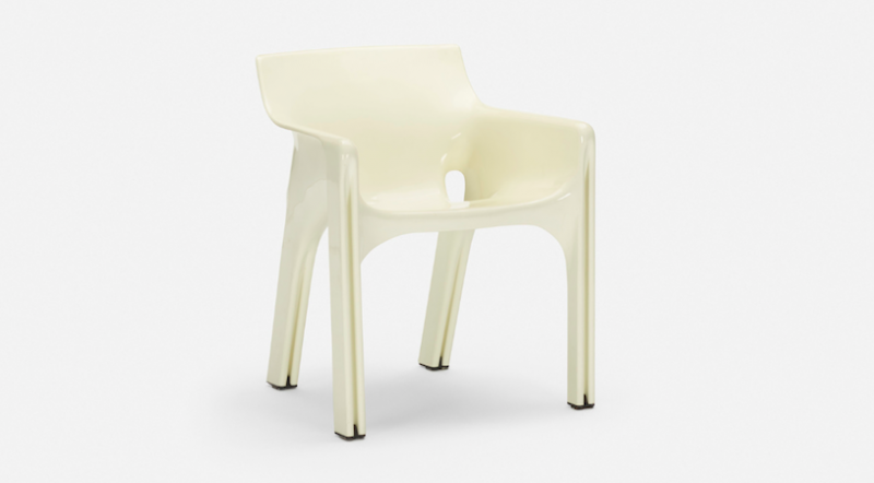Vico Magistretti, Gaudi Chair for Artemide, 1970. Photo: Wright.