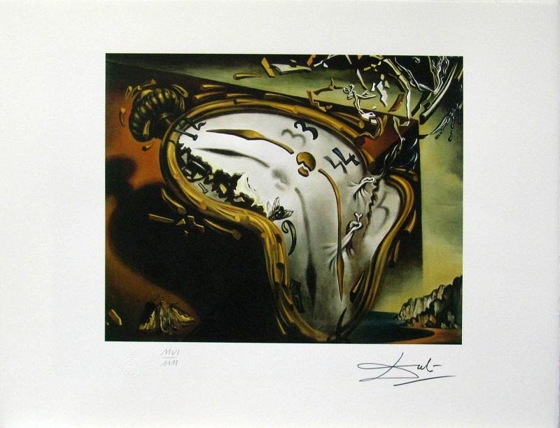 """Salvador Dalí, """"Reloj blando en el momento de su primera explosión"""", (""""Mjuk klocka vid ögonblicket för den första explosionen"""", fritt översatt), cirka 1954."""