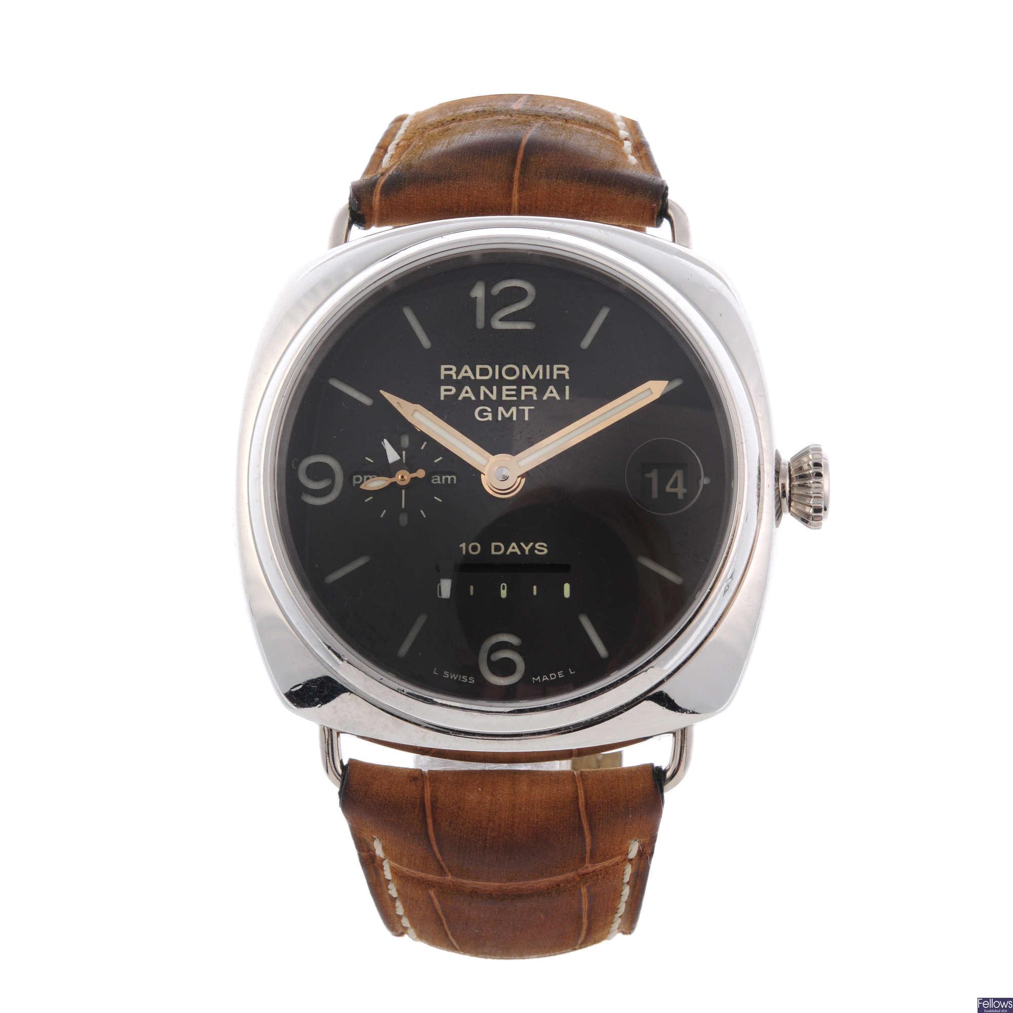 Radiomir Panerai platinum Radiomir 10 Days GMT wrist watch