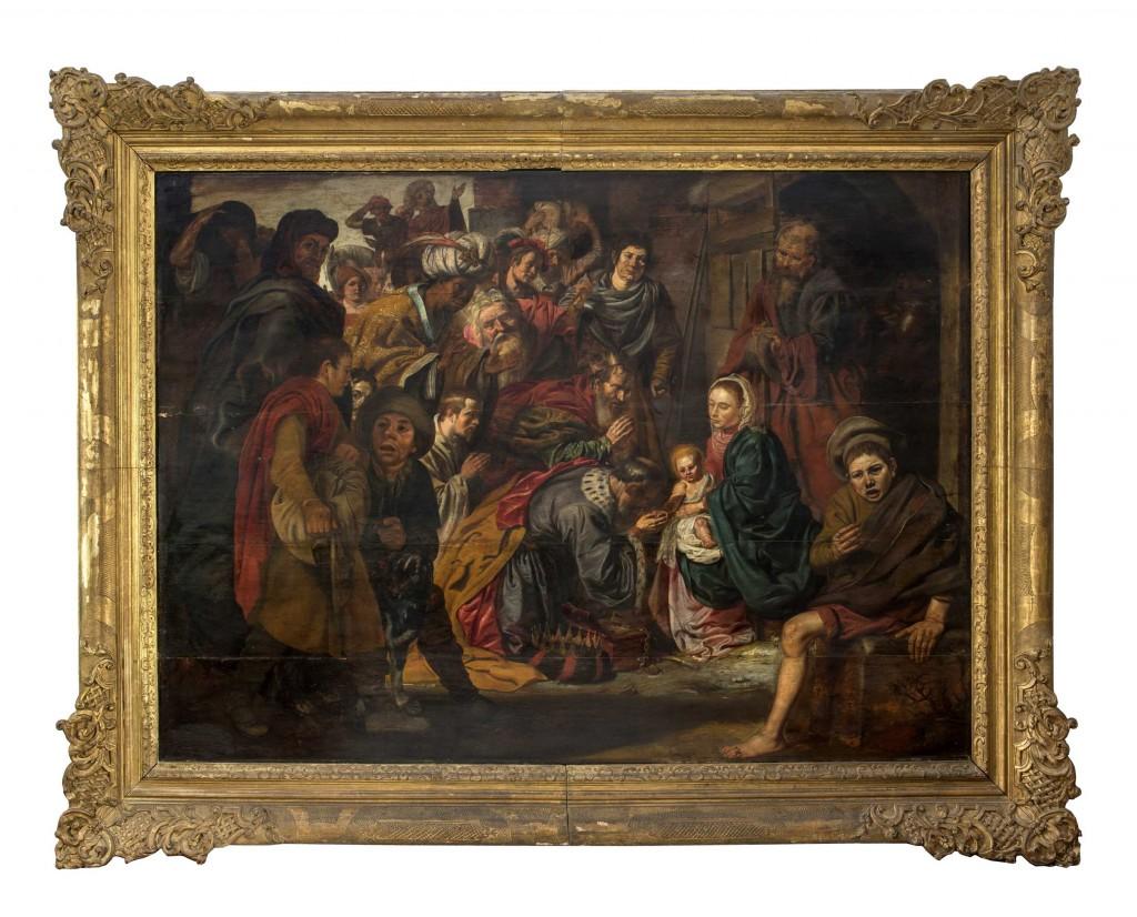 DIRCK VAN HOOGSTRATEN (1596 Antwerpen - 1640 Dordrecht) zugeschr. - Anbetung der Könige, Öl/Holz, 135 x 185 cm Mindestpreis: 8.000 EUR